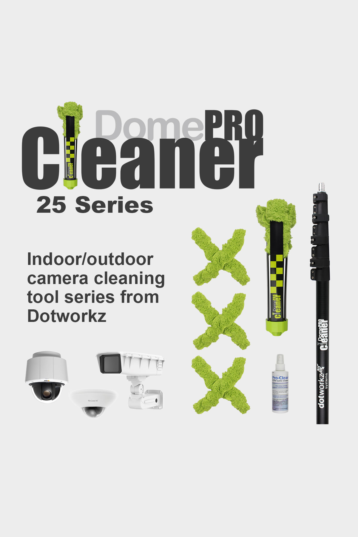 DomeCleanerPRO 25 Series Indoor/Outdoor Lens Cleaning Solution