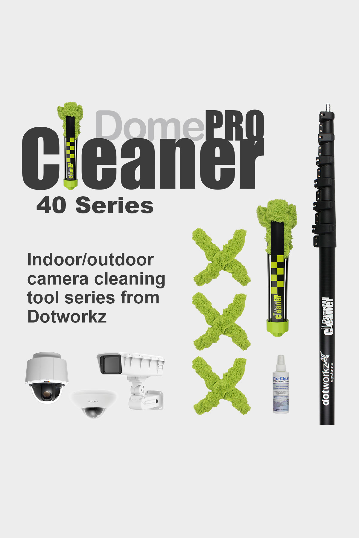 DomeCleanerPRO 40 Series Indoor/Outdoor Lens Cleaning Solution