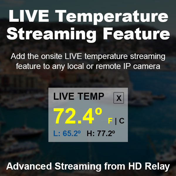 LIVE Temperature Streaming from Local IP Cameras