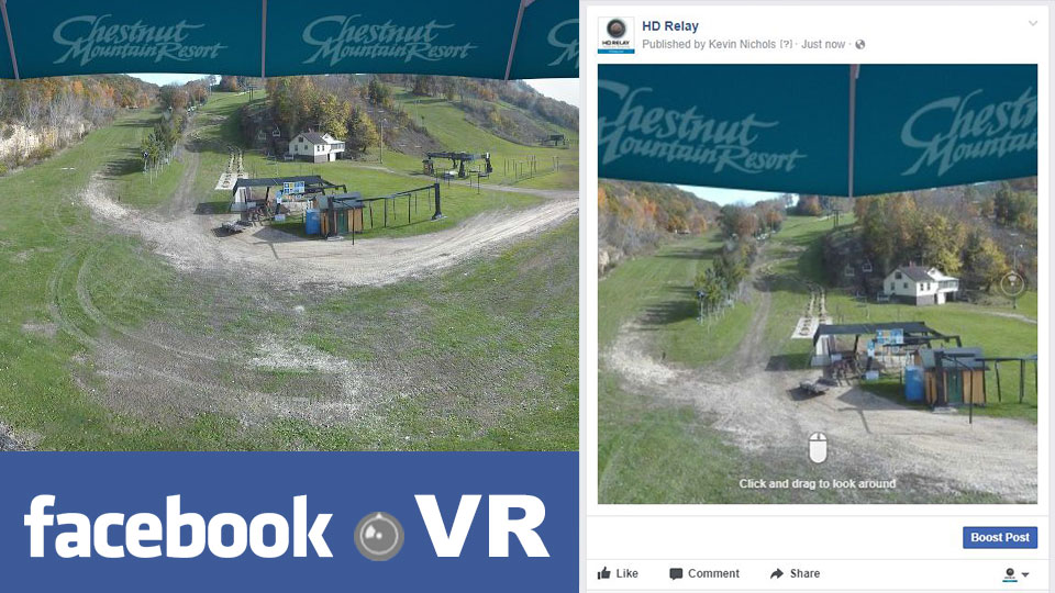 LIVE Camera Features - Facebook VR Image Creation and Uploading