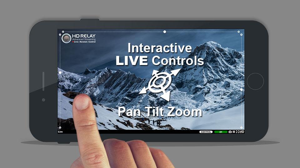 LIVE Camera Features - iOs Interactive Live PTZ Controls