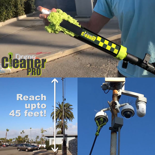 The DomeCleanerPRO is the quickest and safest way to clean any live video camera lens