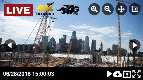 Construction Site Live Cameras - preview mode