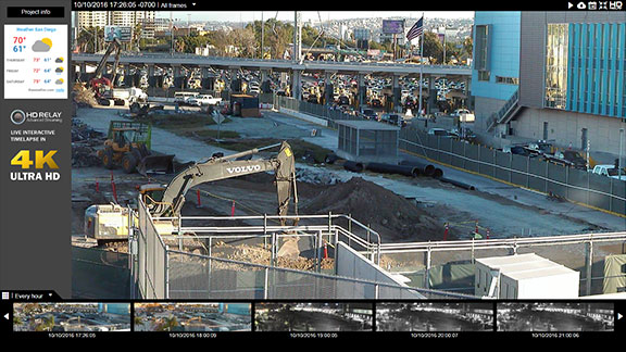 Construction Site Live Cameras - interactive images in high definition plus