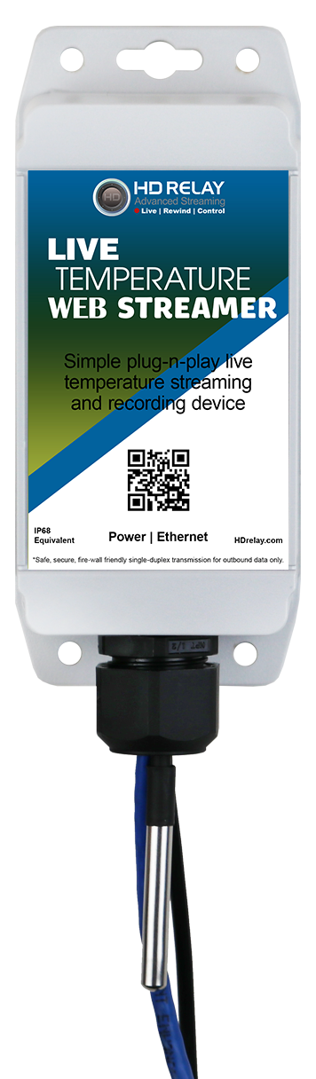 Onsite Temperature Streamer Broadcasting Devices Network Wired Model