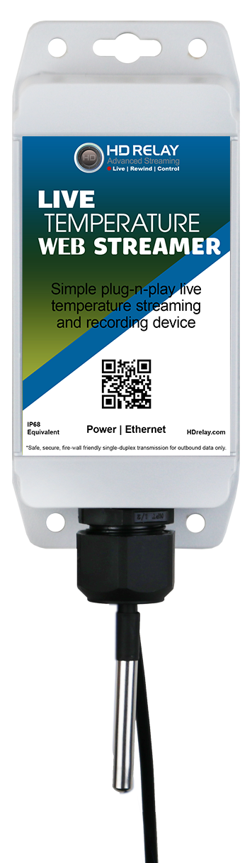 Onsite Temperature Streamer Broadcasting Devices Wireless Cellular Model