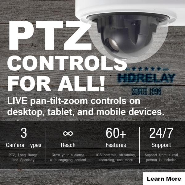 live pan tilt zoom controls on desktop tablet and mobile devices