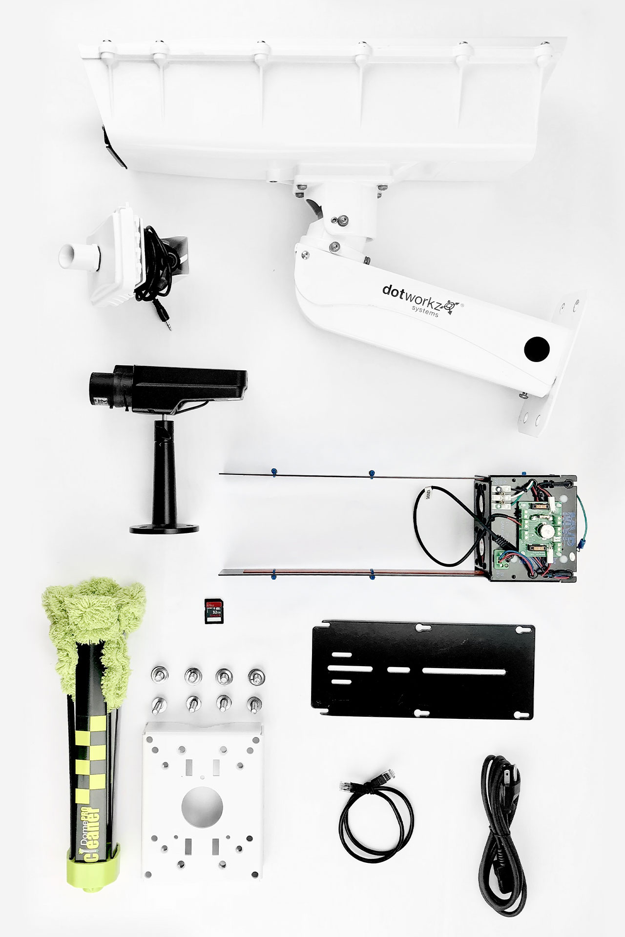 Cold Weather Static Camera Hardware Package all components